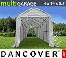 Tent multiGarage 4x14x4,5x5,5m, Wit