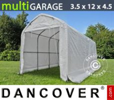 Tent multiGarage 3,5x12x3,5x4,5m, Wit